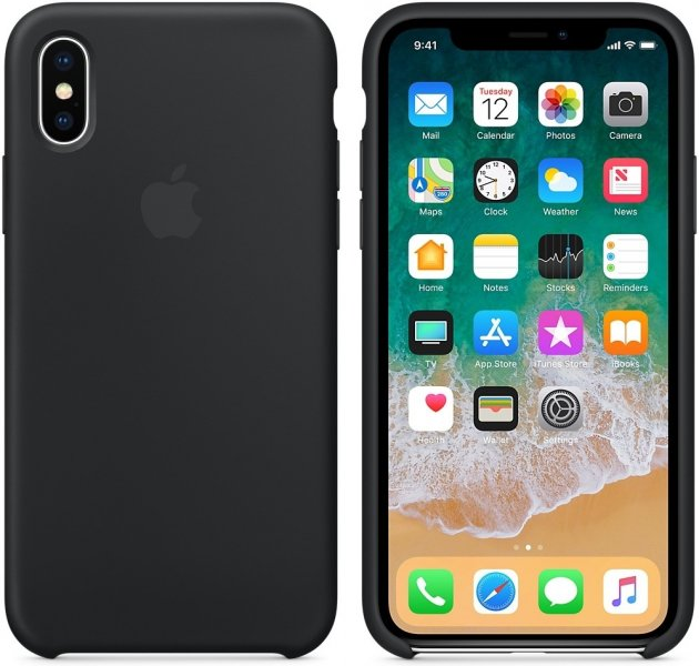 a195a0abac9 Apple iPhone X Silicone Case Black