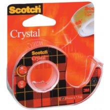 3M Teip hoidjaga 600 Crystal Clear, läbip...