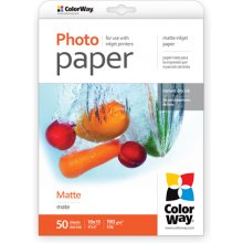 ColorWay Matte foto Paper, 50 sheets, 10x15...