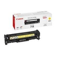 Тонер Canon 718 Y Toner Cartridge, жёлтый