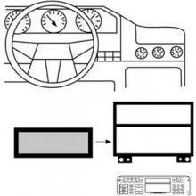 Hama Radio-Adapterblende 1-DIN für Ford
