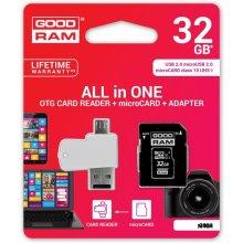 Mälukaart GOODRAM microSDHC 32GB CL10 +...