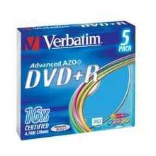Toorikud Verbatim DVD+R slim Color (5)