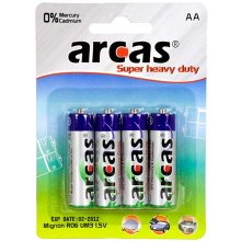 Arcas AA/LR6, Super Heavy Duty, 4 pc(s)