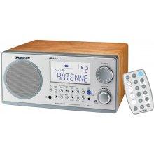 Raadio Sangean WR-2 hõbedane/walnut