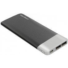 Qoltec Power Bank | black | 10000mAh |...
