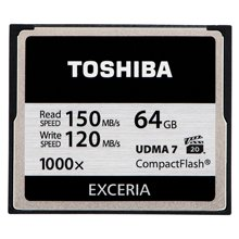 Mälukaart TOSHIBA CF Card 64GB Exceria