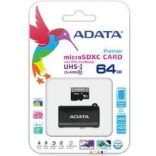 Mälukaart ADATA microSD Premier 64GB UH1...