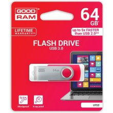 Флешка GOODRAM TWISTER красный 64GB USB3.0