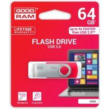 Mälukaart GOODRAM TWISTER punane 64GB USB3.0