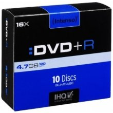 Toorikud INTENSO DVD+R 4,7GB 10pcs Slimcase...