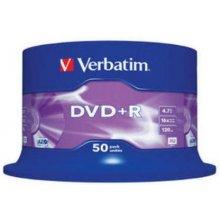 Диски Verbatim DVD+R 16x 4.7GB 50P CB 43550