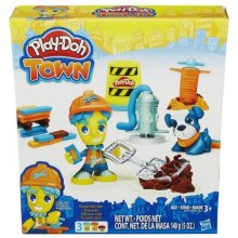 HASBRO PlayDoh Town, builder ja dog
