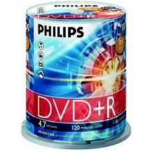 Toorikud Philips DVD+R 4,7GB 100pcs spindel...