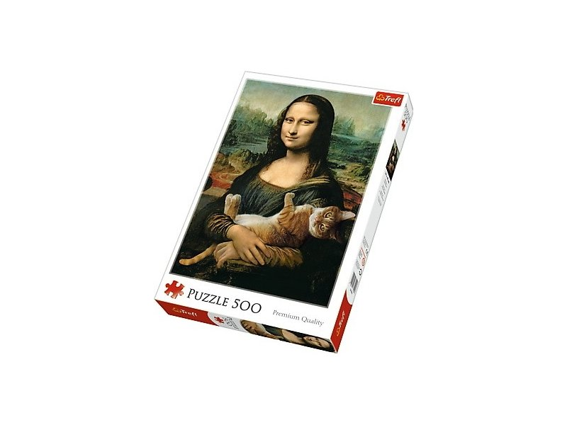Puzzle Mona Lisa I Kot Mruczek 500 El Trefl 37294 for sale online