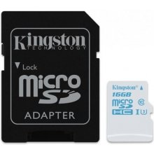 Mälukaart KINGSTON 16GB Micro Cl3 90R/45W...