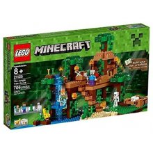 LEGO Minecraft house on a tree in jungle