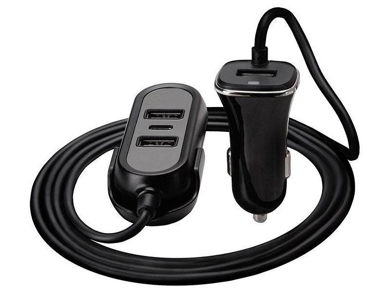 8a8cdc23440 TRACER Car charger 12-24V Multicharge 3xUSB 7,2A + PD 18W ...