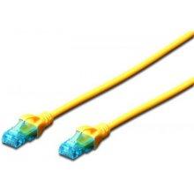 DIGITUS CAT 5e U-UTP patch кабель 1m жёлтый