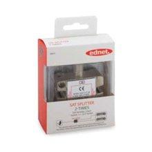 Ednet SAT 100 dB adapter F (jack)/2xF (jack)