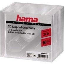 Диски Hama CD-Doppel-Leerhülle Transparent