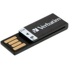 Флешка Verbatim Clip-it 8GB USB 2.0 чёрный