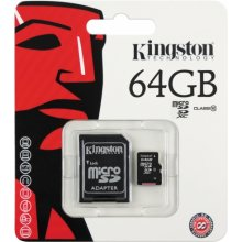 Флешка KINGSTON технология microSDXC 64GB...