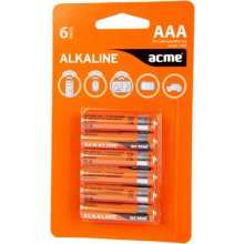 Acme LR03 Alkaline Batteries AAA/6pcs