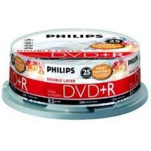 Philips 25 x DVD+R DL, 8.5GB/240min, 8x...