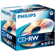 Philips 10 x CD-RW - 700MB / 80min...