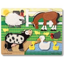 Melissa & Doug Puzzle Farm Animals Touch &...