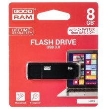 Mälukaart GOODRAM EDGE 8GB USB3.0 BLACK