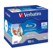 Toorikud Verbatim Bluray 50GB 10pcs Jew.C 6x...