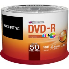 Диски Sony DVD-R 4,7 GB | 16x [Cake 50 pcs]...