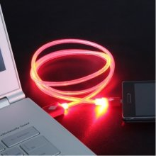 Global Technology kaabel USB LUMINOUS punane...
