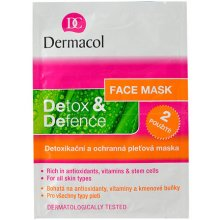 Dermacol Detox&Defence Face Mask, Cosmetic...