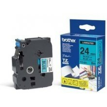 BROTHER Tape 24mm BLACK ON BLUE