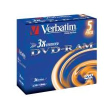 Диски Verbatim 1x5 DVD-RAM 4,7GB 3x Speed...