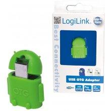 LogiLink - USB OTG адаптер, зелёный