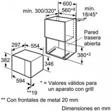 Микроволновая печь BOSCH HMT75M654 20L
