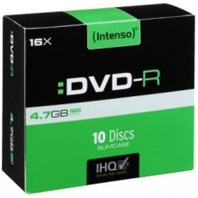 Диски INTENSO 1x10 DVD-R 4,7GB 16x Speed...