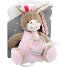 Axiom Musical box uus Baby Donkey pink 18 cm
