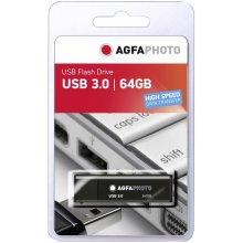 Флешка AGFAPHOTO USB 3.0 чёрный 64GB