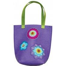 Stnux Felt needlework, big purple bag