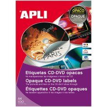 Apli Etiketid CD/DVD 114mm, 100 lehte