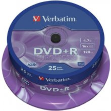Диски Verbatim DVD+R 4,7GB 25 Spindel