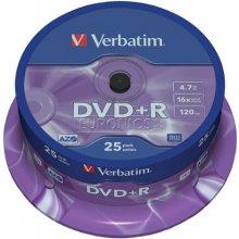 Toorikud Verbatim DVD+R 4,7GB 25 Spindel