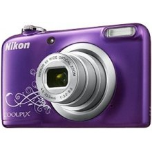 Fotokaamera NIKON A10 violet + ümbris nahast...