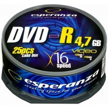 Diskid ESPERANZA DVD-R 4,7GB x16 - Cake Box...