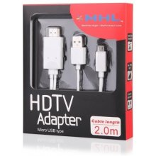 Global Technology HDMI MHL microUSB(2m) koos...
